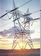 High voltage lattice transmission tower – 735 kV single circuit
